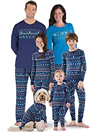 Moore Christmas Family Matching Elephant Printed Pajamas Sets Sleepwear Nightwear
