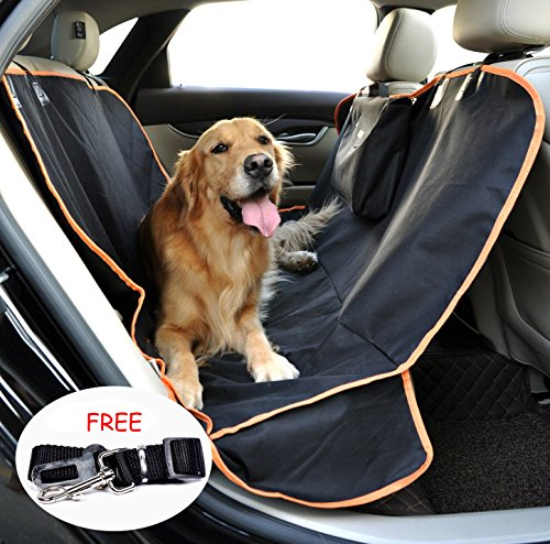 Car Seat Covers For Dogs- Back Seat -Side Flaps- Waterproof Pet Bench Seat Protector Cat Dog Mat Black