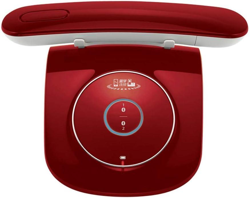 NZ-CJ Teléfono Retro Vintage inalámbrico Fijo Conveniente de la Oficina inalámbrica Creativa (Color : Red)