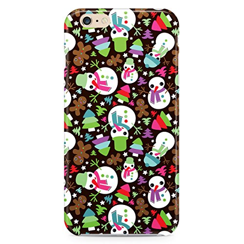 Phone Case For Apple iPhone 6 Plus - Happy Cute Snowman Lightweight Premium