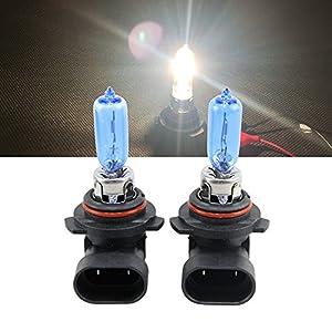 NSLUMO 1 Pair 9012 LL HIR2 HIR PX22d 9012 12V 55W 6500K Xenon White Halogen Car Lamps Auto Bulbs For Chrysler 200 300 Ford Edge GMC (9012 12V 55W)