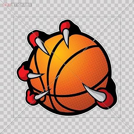 amazon com stickers basketball team logo color print 8 x 7 7 inch