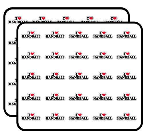 I Love Handball Slogan Sticker for Scrapbooking, Calendars, Arts, Kids DIY Crafts, Album, Bullet Journals 50 Pack