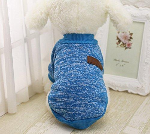 Pet Clothes For Small Dog Girl Dog Boy Soft Warm Fleece Clothing Winter (XXL, Blue)
