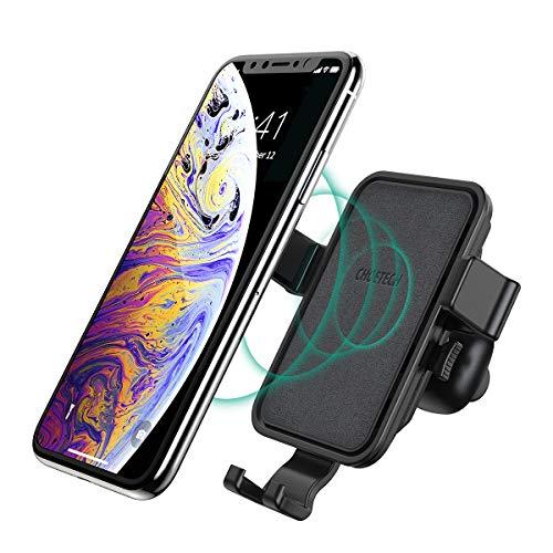 CHOETECH Cargador Inalambrico Coche, Wireless Charger Carga Rápida con Difusor de Aire Soporte Celular Auto para Rejillas...