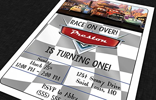 (Custom - Birthday Party Invitations - Cars)