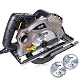 "Circular Saw, TECCPO 7-1/4"" 5500 RPM Saw with Laser Guide, 24T&40T Circular Saw Blades,Lightweight Aluminum Guard and Scale Ruler, TACS01P For Sale"