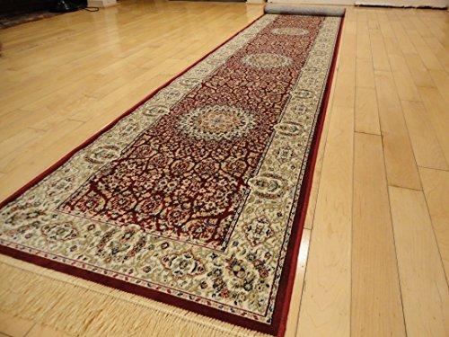 8' Hall Runner (Silk Rugs Stunning Persian Design Runner 2x8 Red Runners Foyer Rugs 2x7 Runners Rug For Hallway (Red, 2'x8' Hallway Runner))