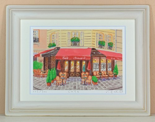 栗乃木ハルミ(くりのきはるみ)Cafe(絵画版画) B008P7N5SE