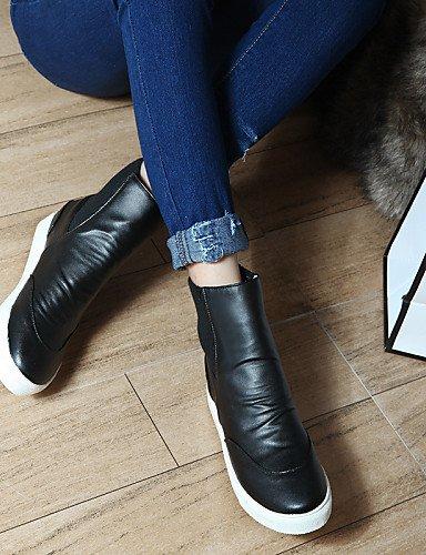 XZZ  Damenschuhe - Stiefel - - - Kleid   Lässig - Baumwolle   Kunstleder - Keilabsatz - Wedges   Rundeschuh   Modische Stiefel - Schwarz   Gelb B01L1GT3P4 Sport- & Outdoorschuhe Zu einem erschwinglichen Preis 8f209c