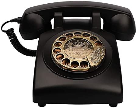 Amazon Com Telpal Antique Phones Corded Landline Telephone Vintage Classic Rotary Dial Home Phone Of 1930s Old Fashion Business Phones Home Office Decor Landlines Electronics