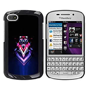 LASTONE PHONE CASE / Slim Protector Hard Shell Cover Case for BlackBerry Q10 / Abstract Sci Fi Neon Art