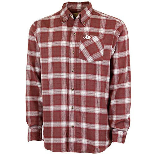 Mossy Oak Flannel Shirt for Men, Buffalo Plaid Long Sleeve Mens Flannel Shirts, Soft Flannels for men, a Traditional Look with New Age Comfort (Whitetail Hawk)