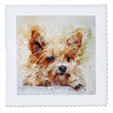 3dRose Sven Herkenrath Animal - Dog Pet Puppy Watercolor - 20x20 inch quilt square (qs_280295_8)