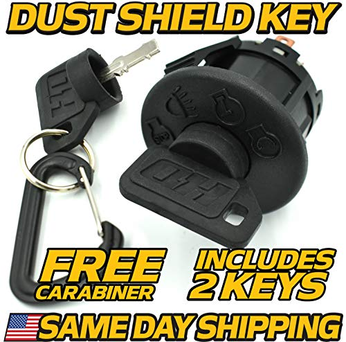 HD Switch John Deere Ignition Switch D100, D105, D110, D120, D125, D130, D140, D150, D155, 2 Upgraded Key & Free Keychain Compatible with John Deere