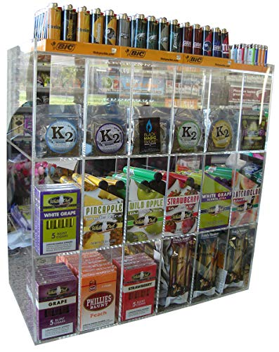 - Cigar, Blunt Wraps or Candy Display Case Point of Sale Counter Rack Retail cabinet Organizer (4090)