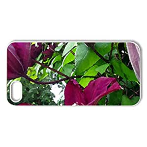 Flowers - Case Cover for iPhone 5 and 5S (Flowers Series, Watercolor style, White)