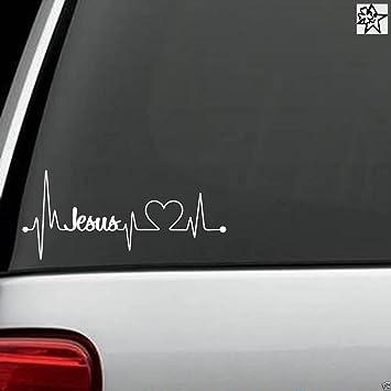 Herzschlag Aufkleber Jesus 20cm Sticker Herz Fan Hobby Leidenschaft Liebe Für Auto Autoaufkleber