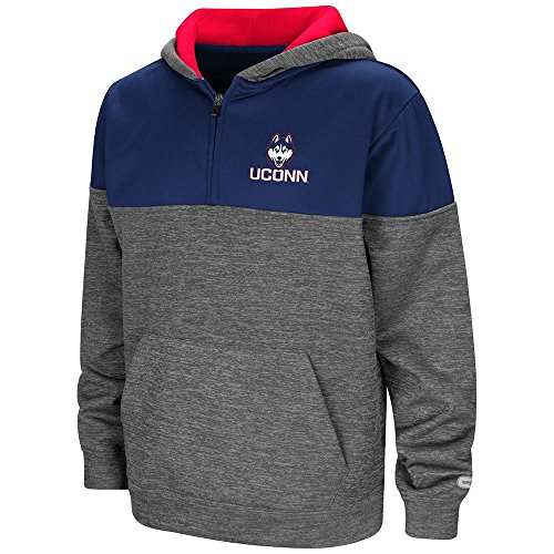 Colosseum Youth UConn Huskies Quarter Zip Pull-Over, used for sale  Delivered anywhere in USA