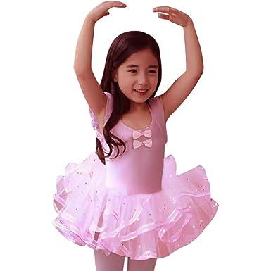 59aa59d4da5a Eulla Baby Girls Dresses Ballet Princess Dance Tutu Skirt New Years Party  Dress Pink 5-6 Years: Amazon.co.uk: Clothing