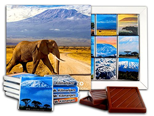 DA CHOCOLATE Candy Souvenir MOUNT KILIMANJARO Chocolate Gift Set 5x5in 1 box (Elephant Prime)