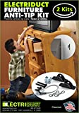 Furniture Anti-Tip Kit - 400 Pound Falling Furniture Prevention Device - 2 Pack
