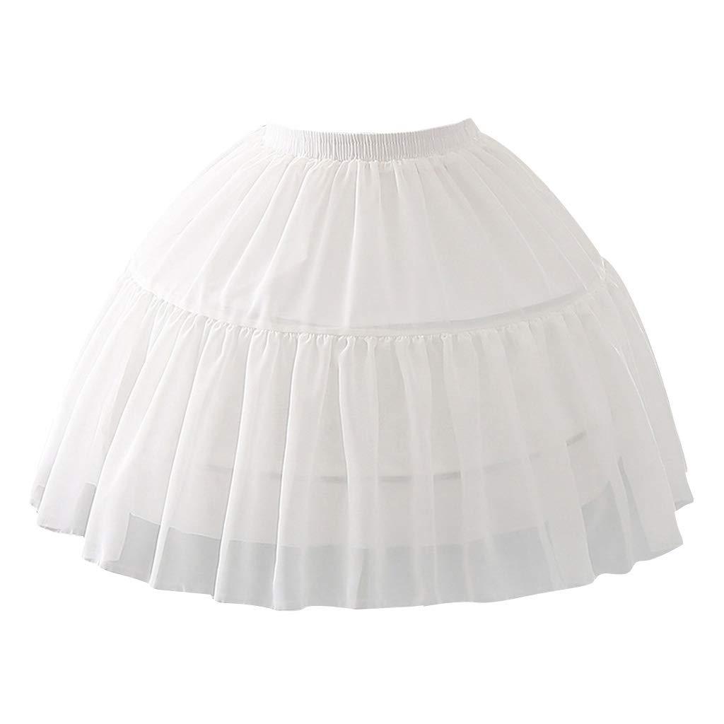 Mayoaoa Donna Ragazza Multi Layer Cosplay Lolita Sottogonna Fascia Elastica Single Steel Loop Abito da Sposa Petticoat White Crinoline