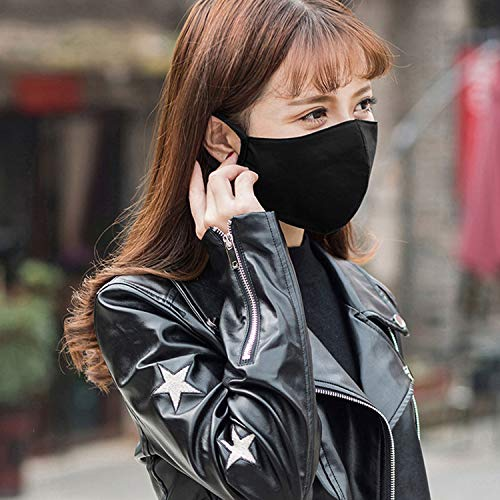 Reusable Face Mask Black Noctilucent Mouth Mask Anti Dust Mask Fashion Cotton Windproof Proof Face Masks Reusable 1Pcs-4-,