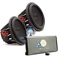 pkg Soundstream T1.4000DL Monoblock 4,000W Max Class D Amplifier with a Pair of Soundstream T5.124 12 1000W RMS 2000W Max Dual 4-Ohm Subwoofers