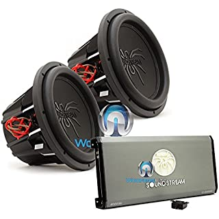Discount pkg Soundstream T1.4000DL Monoblock 4 000W Max Class D Amplifier with a Pair of Soundstream T5.124 12' 1000W RMS 2000W Max Dual 4-Ohm Subwoofers