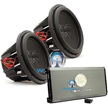Amazon soundstream t5154 15 1300 watts rms dual 4 ohm t5 pkg soundstream t14000dl monoblock 4000w max class d amplifier with a pair of soundstream t5124 12 1000w rms 2000w max dual 4 ohm subwoofers sciox Gallery