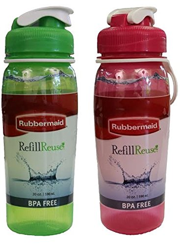 Rubbermaid Refill Reuse, 2 Pack, 20 oz, Green/Pink