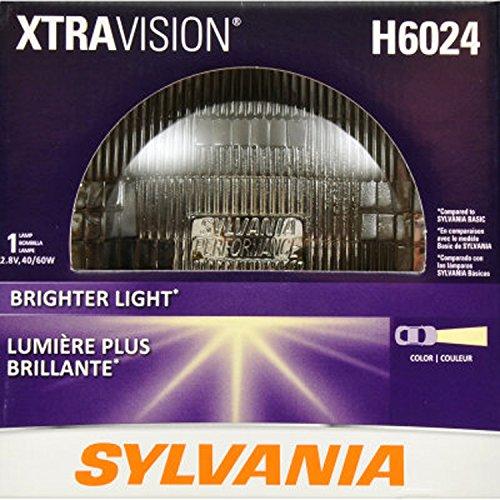 SYLVANIA H6024 XtraVision Halogen Sealed Beam Headlight (7'' Round) PAR56, (Contains 1 Bulb) by Sylvania