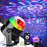 Disco Lights Party Lights QinGerS Dj Stage Light 7 Colors Sound Activated For Christmas KTV Club Lights Romantic decoration
