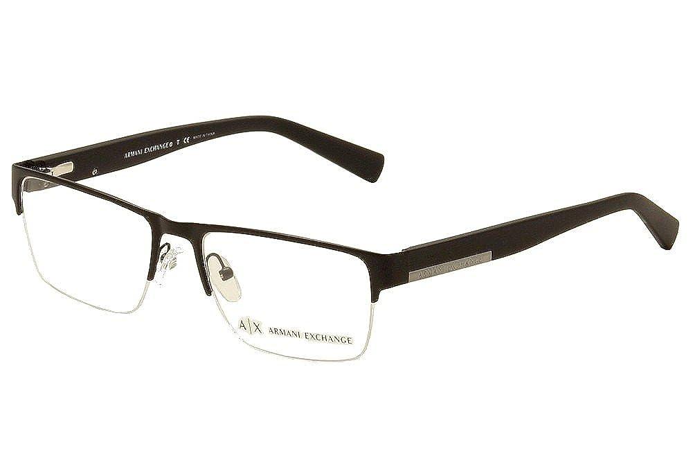 Amazon.com: Exchange Armani 0 ax1018 Optical Semi Rim ...