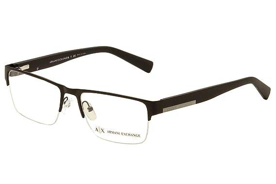 122cd4b89af8 Armani Exchange AX1018 Eyeglass Frames 6063-54 - Matte Black AX1018-6063-54