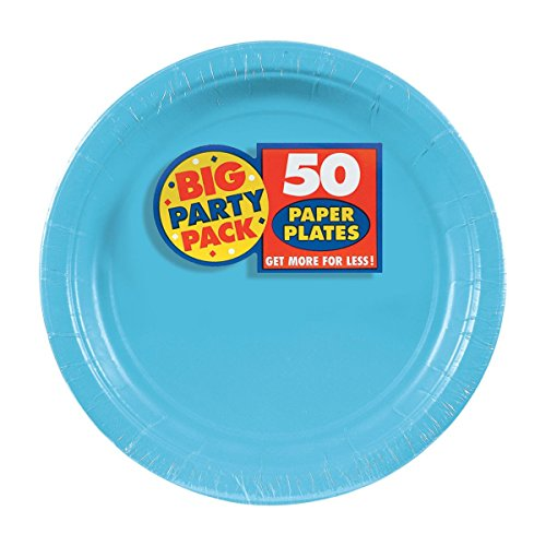 Amscan Party Tableware, Big Party Pack Paper Plates, Party Supplies, Caribbean, 7