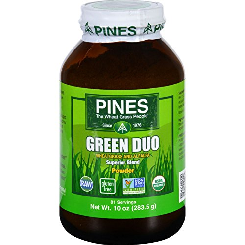 2Pack! Pines International Green Duo - Organic - Powder - 10 oz by Herbal Supplements