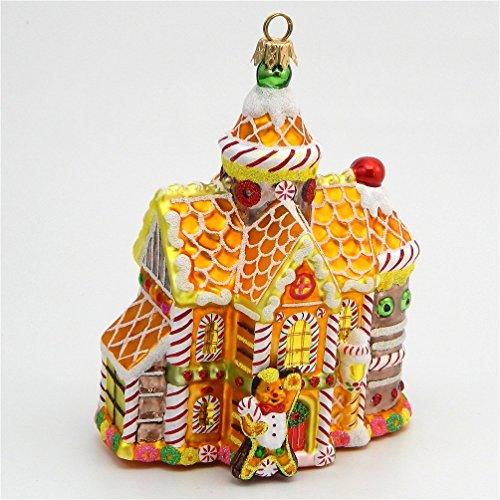 Kurt Adler Polonaise - Ornate Gingerbread House - Blown Glass Ornament