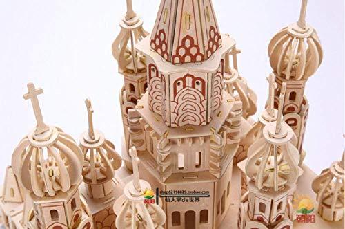 Zhiwen 3D Simulation Model Wooden Puzzle Kit for Children Or Adults Artistic Wooden Toys for Children-Buildings Series Castle by Zhiwen (Image #3)