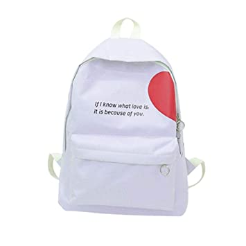 Mochilas Escolares Mujer Juveniles - Lienzo Carta Bolso de escuela para Buen Amigo - if i know what love is,it is because of you: Amazon.es: Equipaje