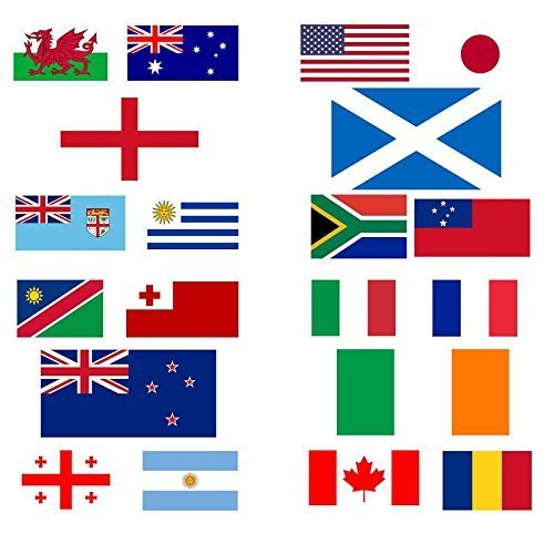MEGA VALUE All 20 Participating Nations 5'x3' Premium Quality Flags For The IRB Rugby World Cup 2015 by My ()