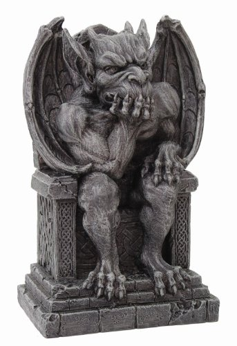 Cold Cast Resin (Gargoyle on Throne Statue Cold Cast Resin Figurine)