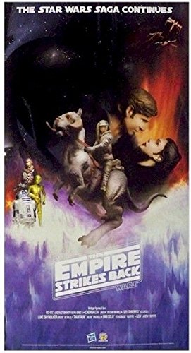 Star Wars The Empire Strikes Back Hasbro Action Figure Double Sided Promo Poster 16 X 30