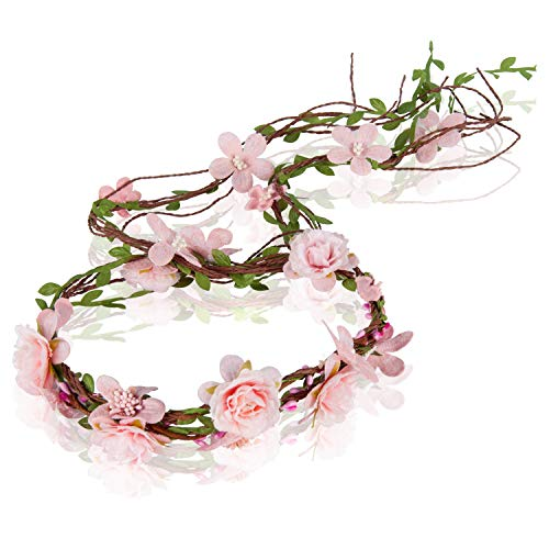 PRAYER Adjustable Bridal Flower Garland Headband Flower Crown Hair Wreath Halo -