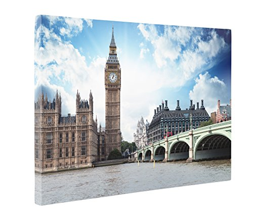 [Niwo Art (TM) - 15 London Cityscape Picture On Canvas - Giclee Wall Art for Home Decor, Gallery Wrapped, Stretched and Framed Ready to Hang] (Costumes Brisbane Australia)
