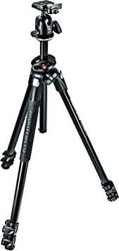 Manfrotto MK290DUA3 BH 290 Dual Alu 3 Section Tripod Kit with 496RC2 Ball Head