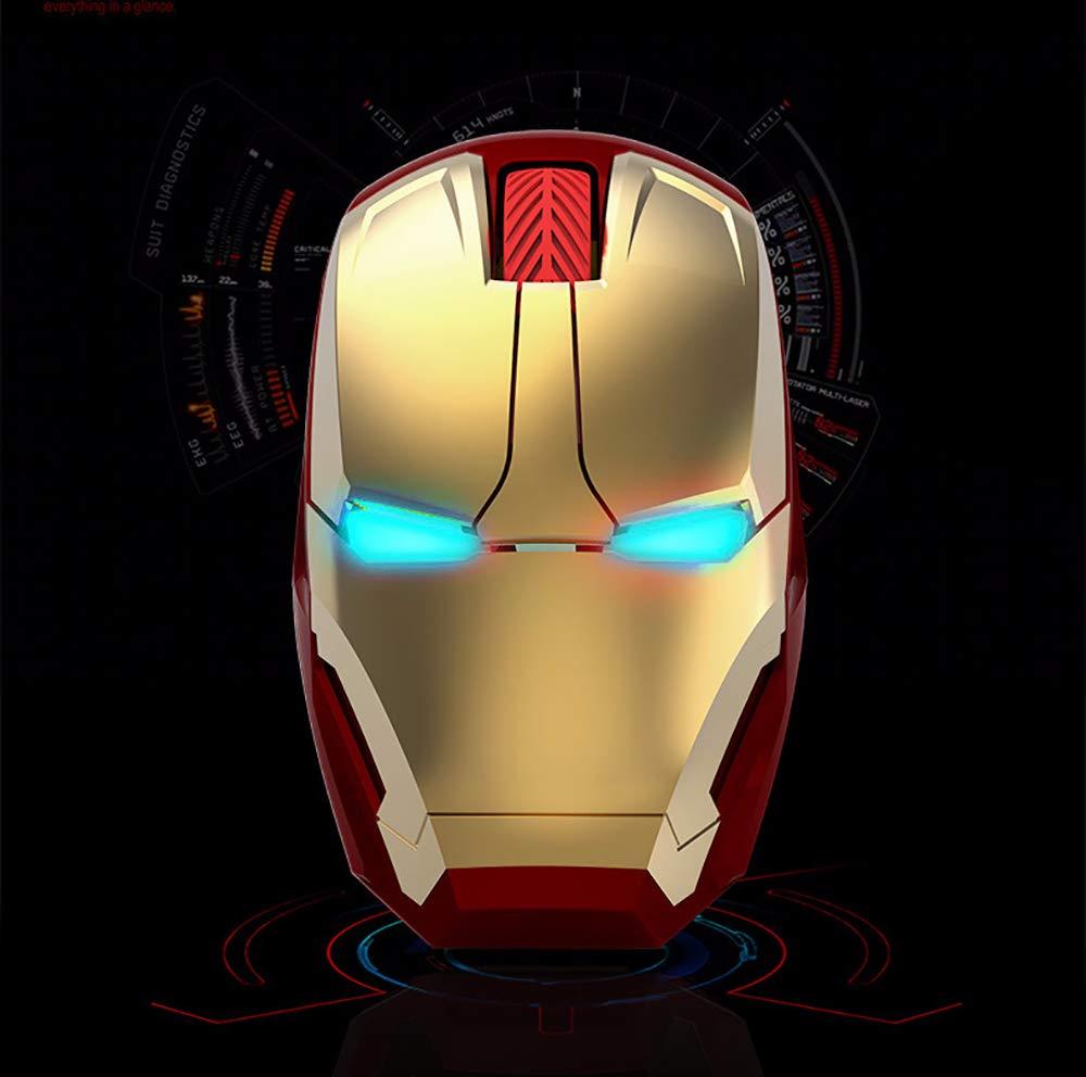 Beuchan Iron Man Ratón inalámbrico ratón Gaming Ratón 2,4 GHz LED ...
