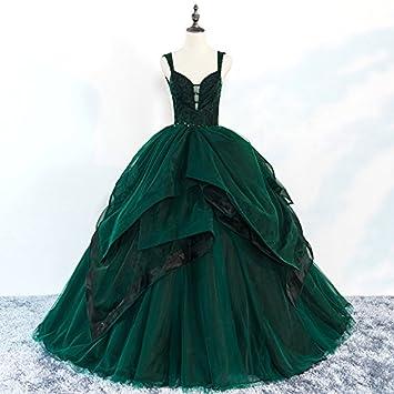 JKJHAH Vestidos De Noche Vestidos De Fiesta Vestidos De Fiesta Mujeres, Verde, S