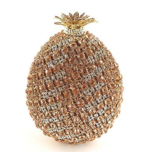 Pochette Glitter sera da dorata Ananas Pochette strass donna Borse da tracolla con 6gqCw4